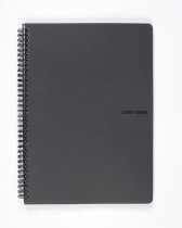 Twin wire notepad A4 PP Color Office anthracite