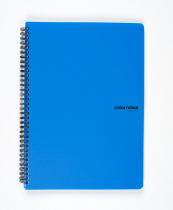 Twin wire notepad A4 PP Color Office blue