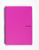 Twin wire notepad A4 PP Color Office pink