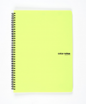 Twin wire notepad A4 PP Color Office green