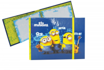 Twin wire notepad horizontal MINIONS