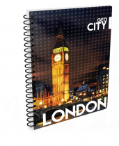 Twin wire notepad A4 London