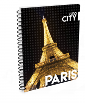 Twin wire notepad A4 Paris