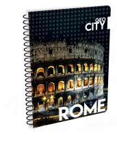 Twin wire notepad A4 Rome