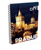Twin wire notepad A4 Prague