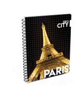 Twin wire notepad A5 Soft Paris