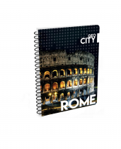 Twin wire notepad A5 Soft Rome