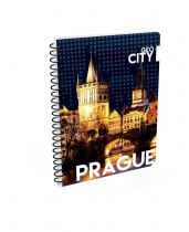 Twin wire notepad A5 Prague