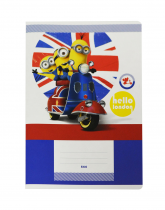 Exercise book A5 544, 40 sheets MINIONS