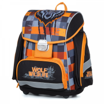 School Backpack PREMIUM Wolf