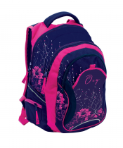 Student backpack OXY Fashion Pink Flowers
