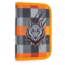 Pencil case filled 1 flap Wolf