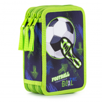 Pencil case triple unfilled Football