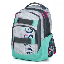 Student Backpack OXY Style Grey Tropical