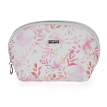 Cosmetic bag round Pink flowers