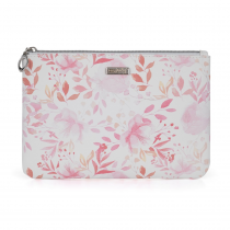 Cosmetic bag flat Pink flowers