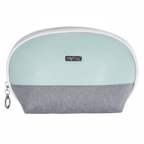 Cosmetic bag round Grey mentol