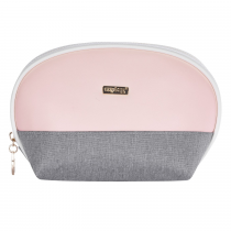 Cosmetic bag round Grey salmon