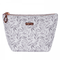 Cosmetic bag square White leaves