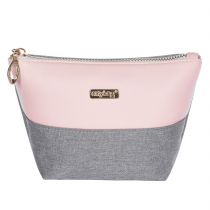 Cosmetic bag square Grey salmon