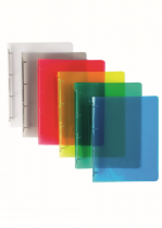 Ringbinder translucent A4 4 rings assort