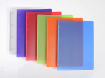 Ringbinder translucent A4 4 rings Opaline assort