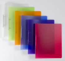 Ringbinder translucent A4 2 rings Opaline assort